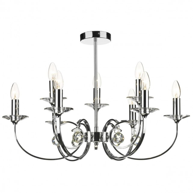 Allegra 9 Light Ceiling Light - Polished Chrome