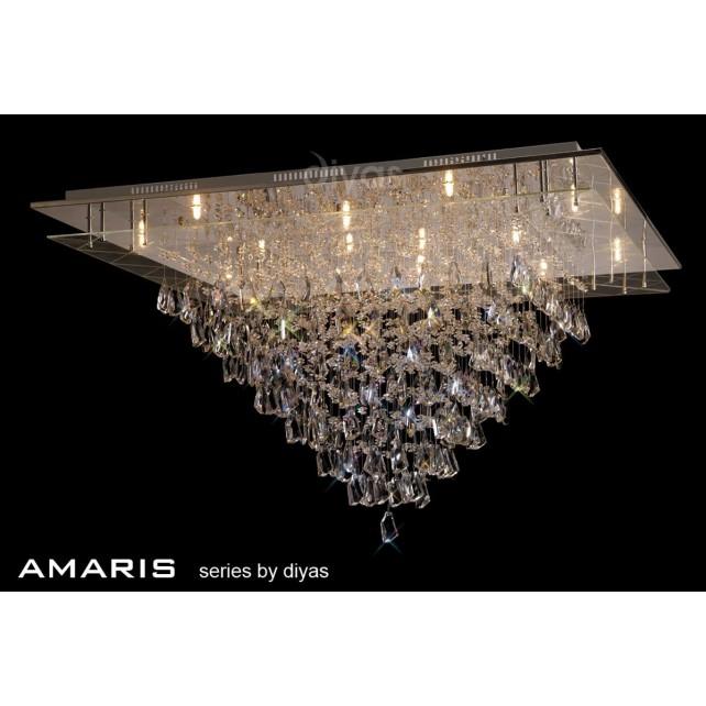 Diyas Amaris Ceiling 14 Light Polished Chrome/Crystal