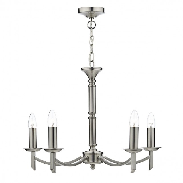 Ambassador 5 Light Dual Mount Pendant Satin Chrome