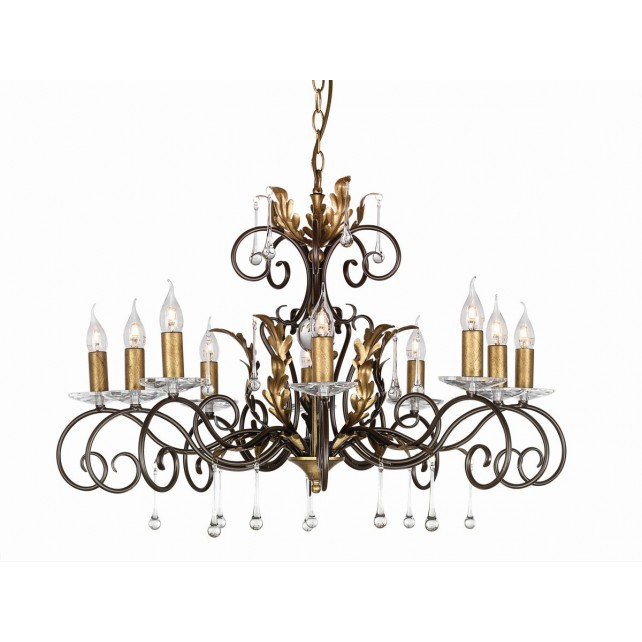 Elstead AML10 BRONZE Amarilli 10 - Light Chandelier Bronze/Gold