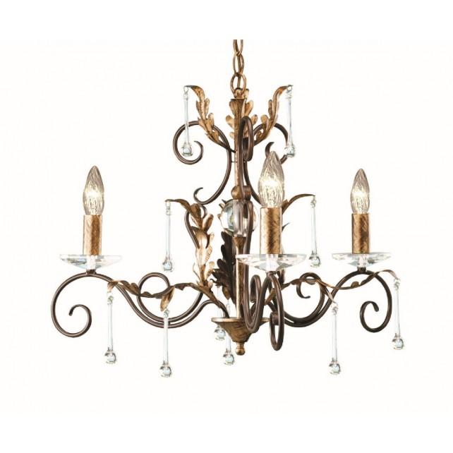 Elstead AML3 BRONZE Amarilli 3 - Light Chandelier Bronze/Gold