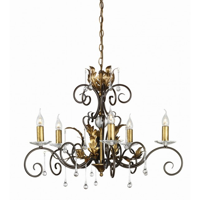 Elstead AML5 BRONZE Amarilli 5 - Light Chandelier Bronze/Gold
