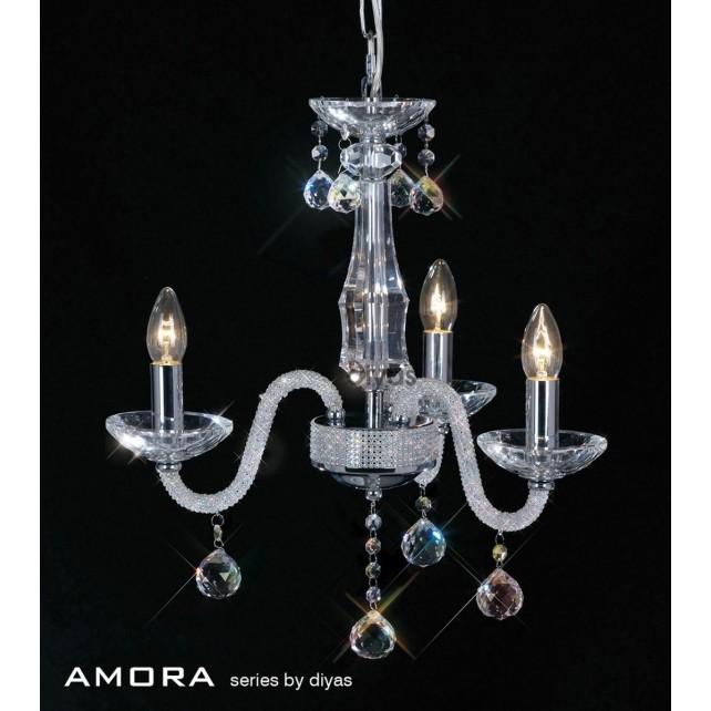 Diyas Amora Pendant 3 Light Polished Chrome