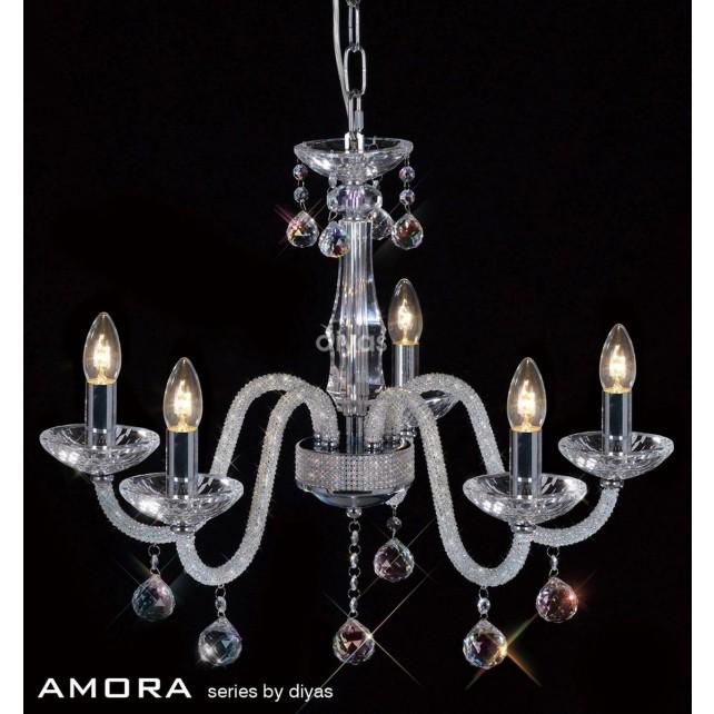 Diyas Amora Pendant 5 Light Polished Chrome