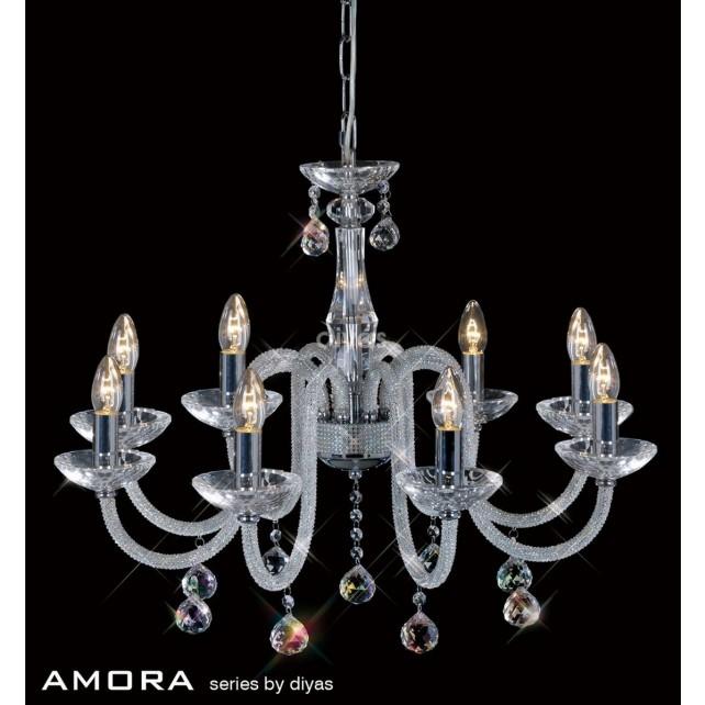 Diyas Amora Pendant 8 Light Polished Chrome