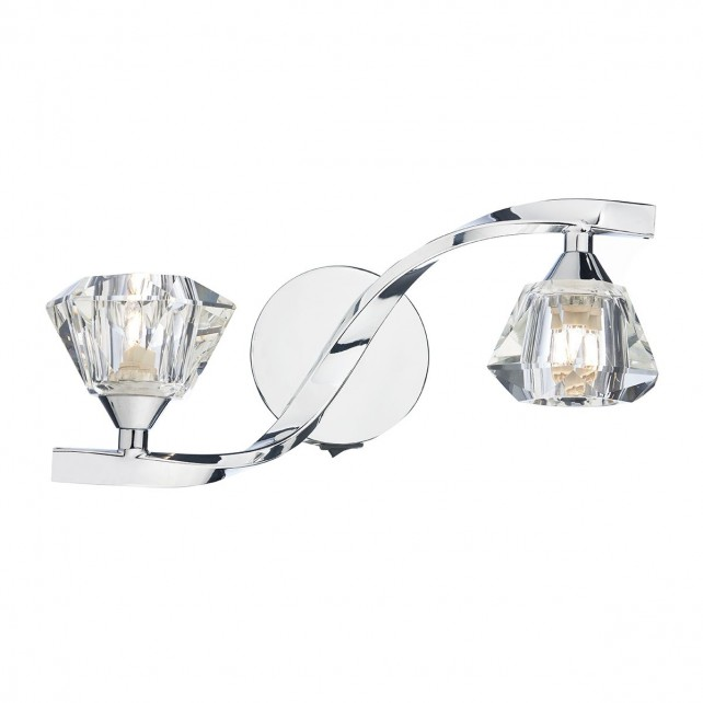 Dar Ancona 2-Light Wall Light Polished Chrome