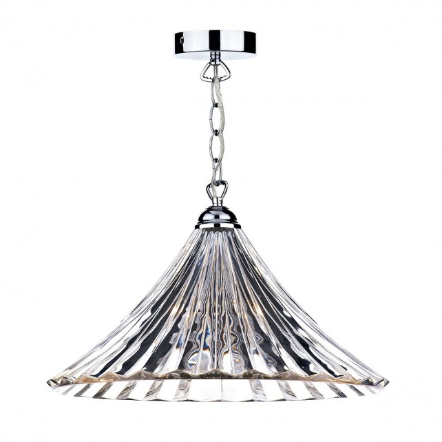 Ardeche 1 Light Large Pendant Light - Clear Glass