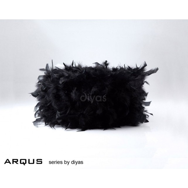 Diyas Arqus Feather Shade Black 250mm