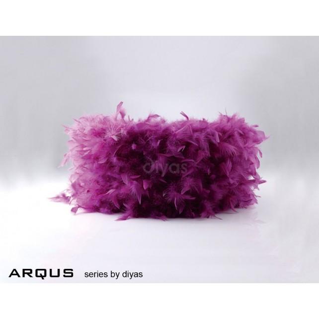 Diyas Arqus Feather Shade Aubergine 250mm