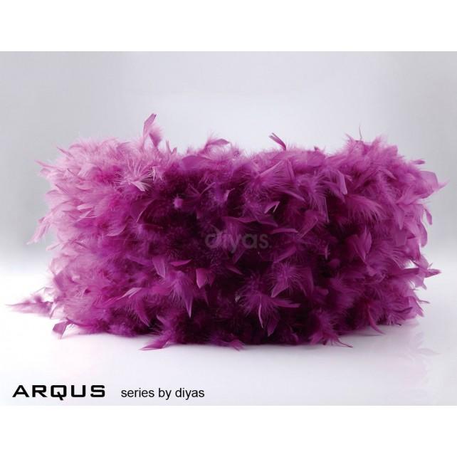 Diyas Arqus Feather Shade Aubergine 410mm