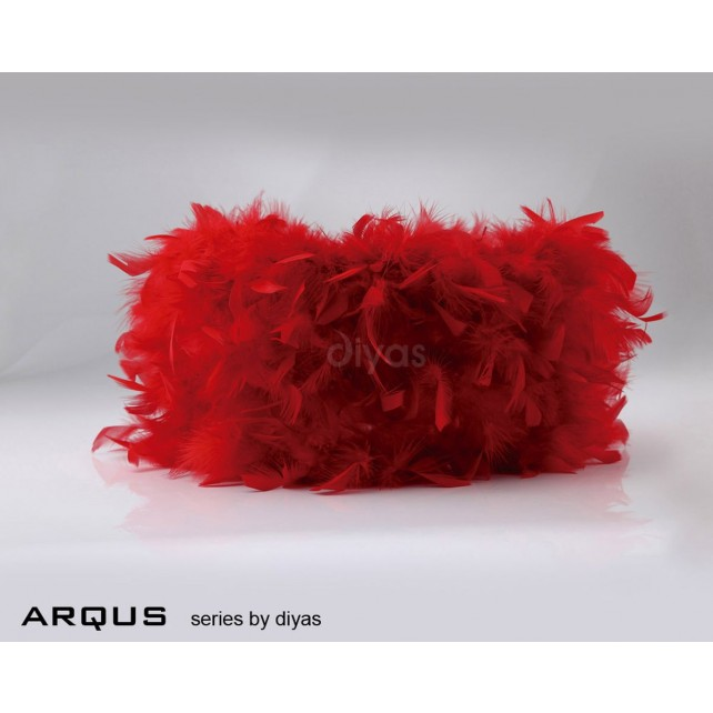 Diyas Arqus Feather Shade Red 330mm