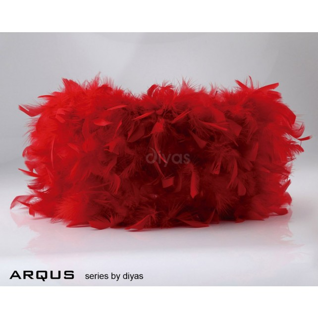 Diyas Arqus Feather Shade Red 410mm
