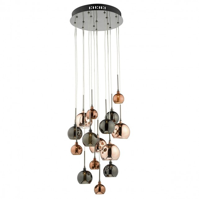 Aurelia 15 Light Pendant Copper Dark Copper And Bronze