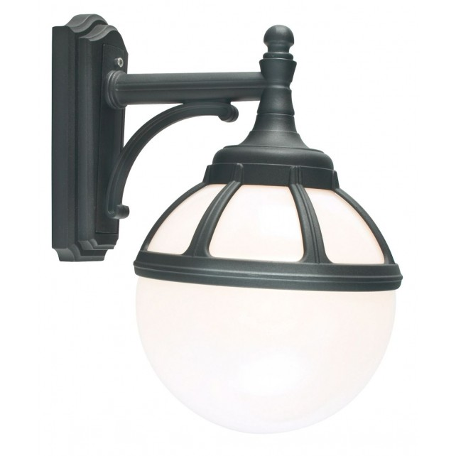 Norlys B2 BLACK O Bologna Wall Down Light Black Opal Lens