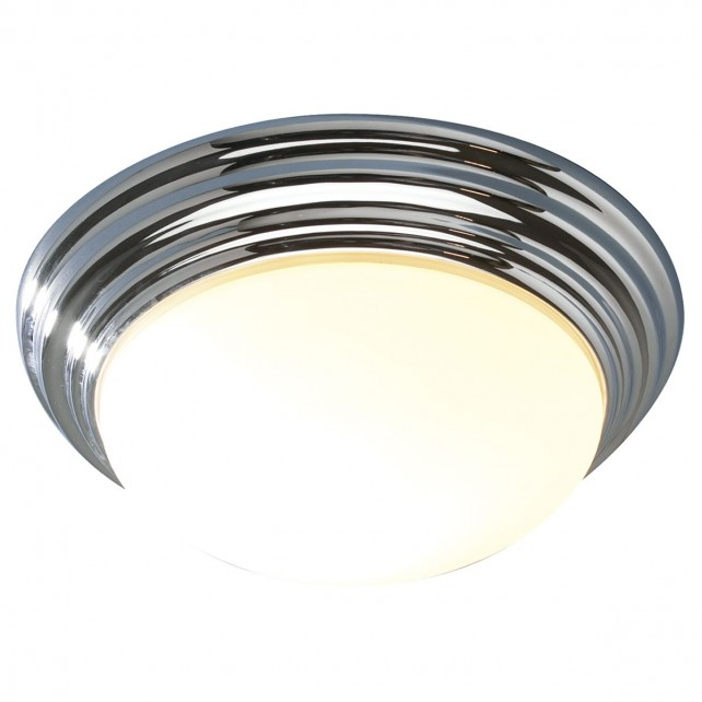 Barclay Flush Ceiling Light - IP44 Large Chrome
