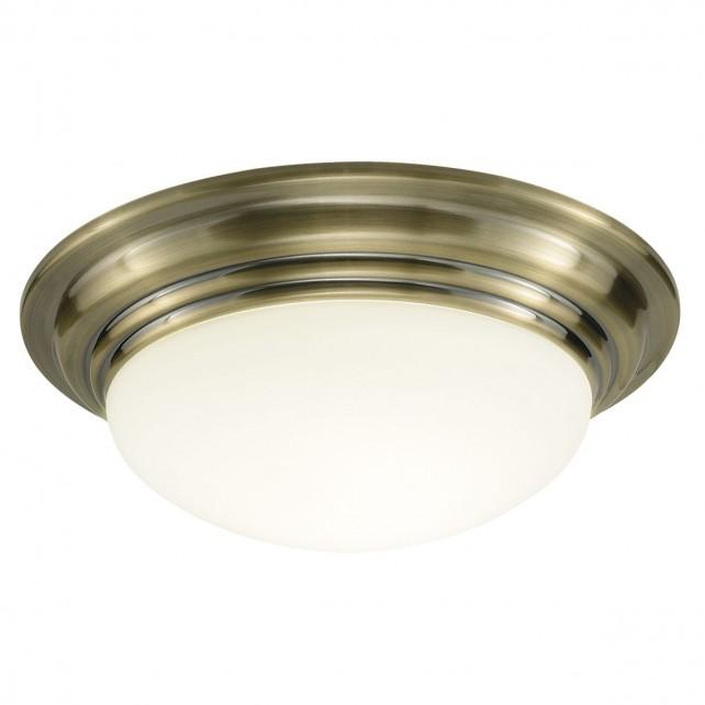Barclay Large Flush Ceiling Light - Antique