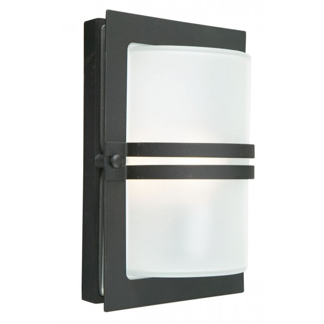 Norlys BASEL E27 BLK F Basel Wall Light E27 Black Frosted