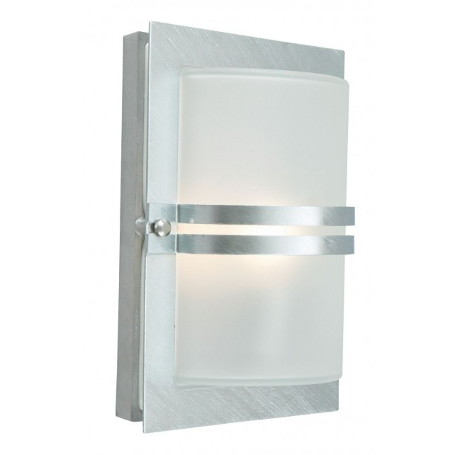 Norlys BASEL E27 GAL F Basel Wall Light E27 Galvanised Frosted