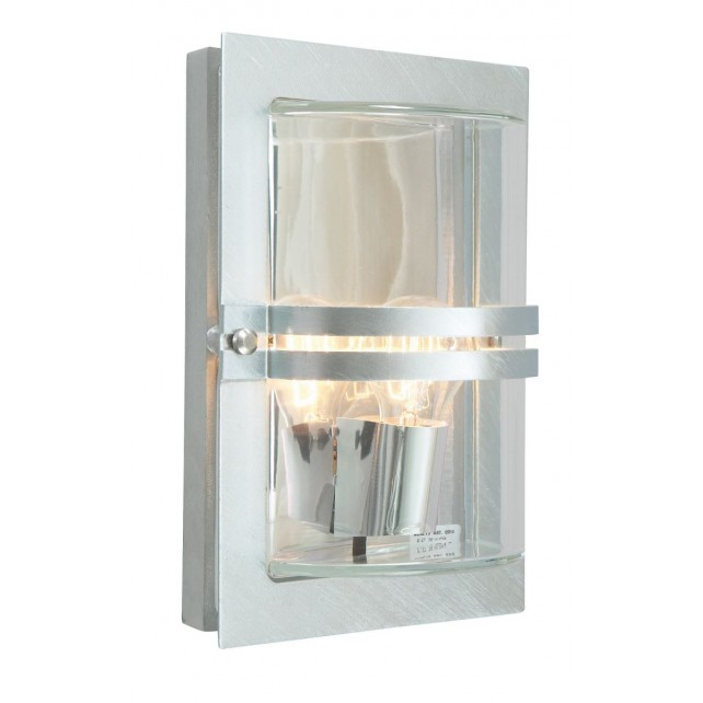 Norlys BASEL E27 GAL C Basel Wall Light E27 Galvanised Clear