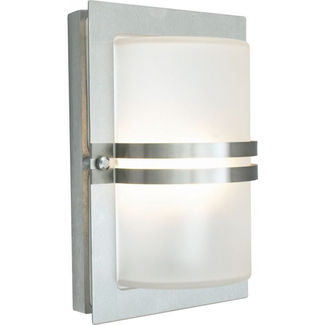 Norlys BASEL E27 S/S F Basel Wall Light E27 Stainless Steel Frosted