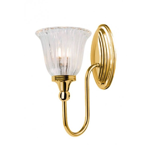 Elstead BATH/BLAKE1 PB Blake1 Wall Light Polished Brass