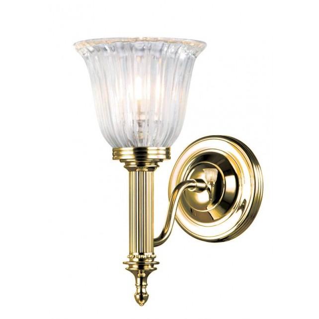 Elstead BATH/CARROLL1 PB Carroll1 Wall Light Polished Brass