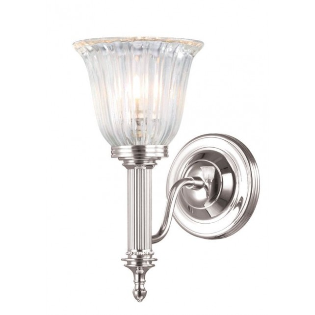 Elstead BATH/CARROLL1 PN Carroll1 Wall Light Polished Nickel