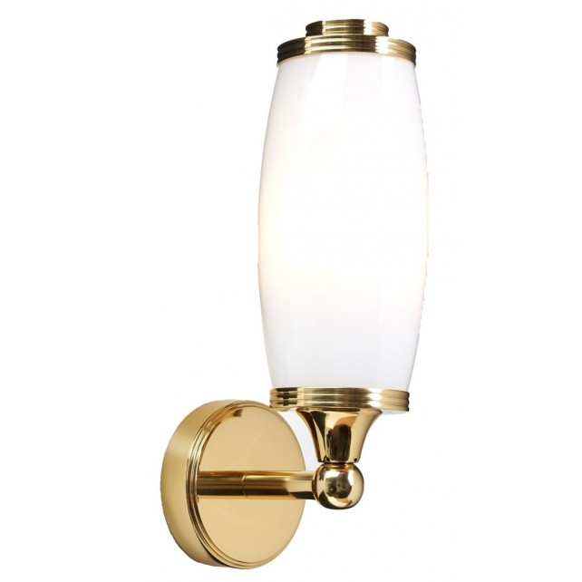Elstead BATH/ELIOT1 PB Eliot Single Wall Light Polished Brass