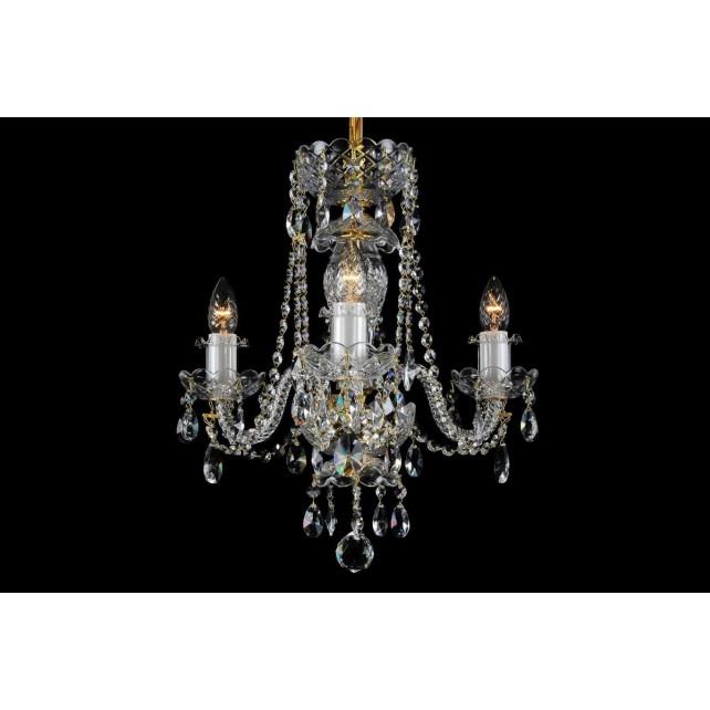 Bohemian BCC03A Clear Crystal Chandelier - 3-Light