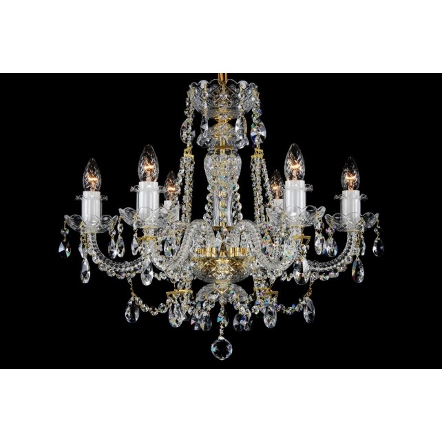 Bohemian BCC06A Neutral Crystal Chandelier - 6-Light