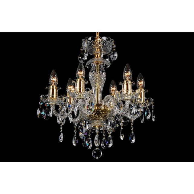 Bohemian BCC06BG Clear Crystal Chandelier - 6-Light