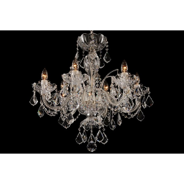Bohemian BCC06SPS Clear Crystal Chandelier with Swarovski Trimmings - 6-Light