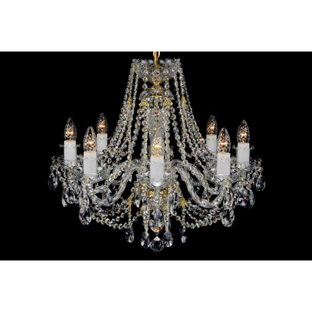 Bohemian BCC08AN Clear Crystal Chandelier - 8-Light