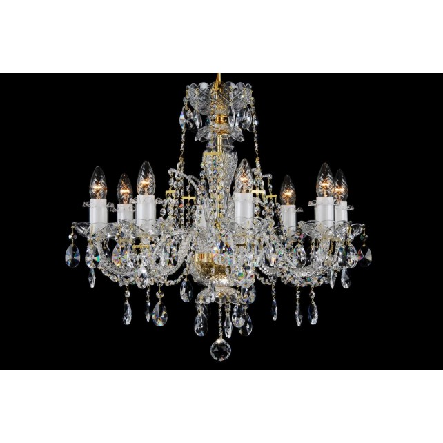 Bohemian BCC08D Neutral Crystal Chandelier - 8-Light