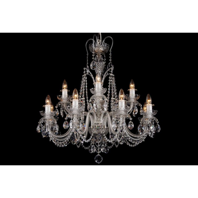 Bohemian BCC122DKS Crystal Chandelier with Dishes - 12-Light