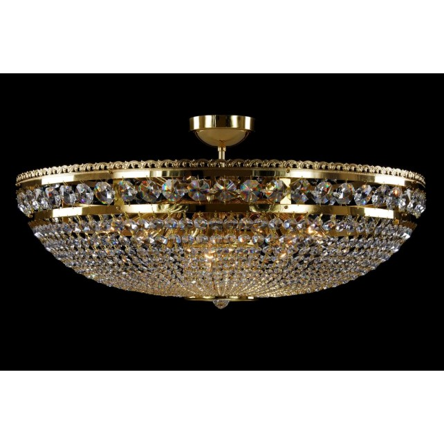 Bohemian BCC12A Gold Basket Crystal Chandelier - 12-Light