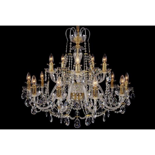 Bohemian BCC15KG Gold Crystal Chandelier - 15-Light
