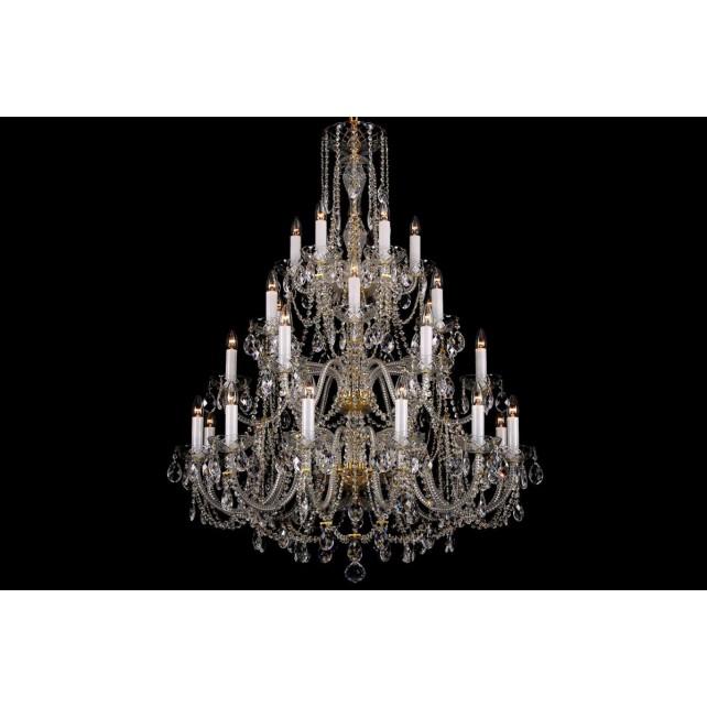 Bohemian BCC30XL Clear Crystal Chandelier - 30-Light