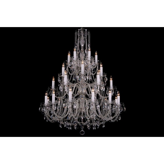 Bohemian BCC30XLS Clear Crystal Chandelier - 30-Light