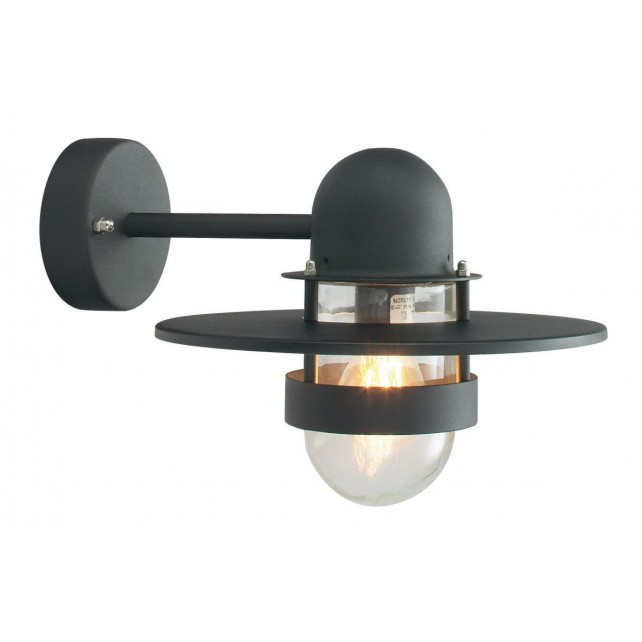 Norlys BERGEN BLACK C Bergen Wall Light Black Clear