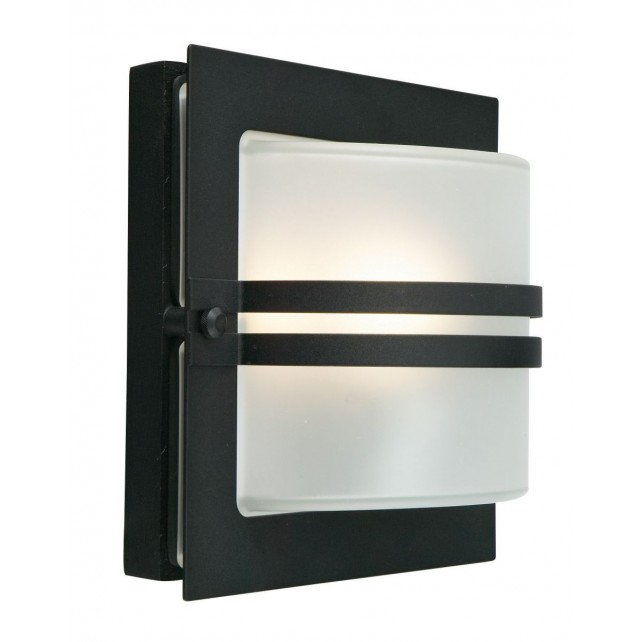 Norlys BERN E27 BLK F Bern Wall Light E27 Black Frosted