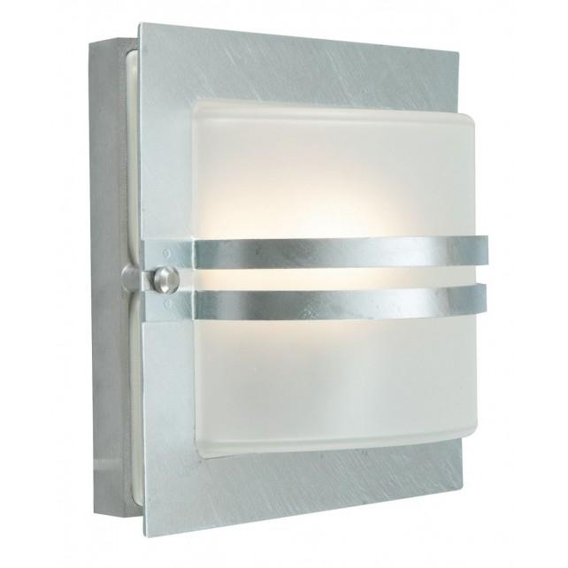 Norlys BERN E27 GAL C Bern Wall Light E27 Galvanised Clear