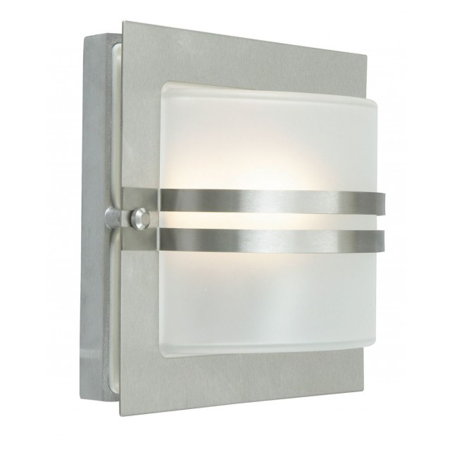 Norlys BERN E27 S/S C Bern Wall Light E27 Stainless Steel Clear