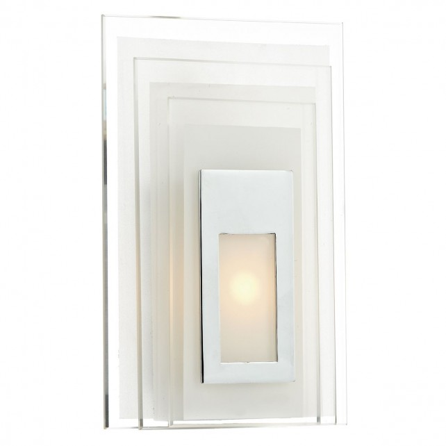 Binary Wall Light - Polished Chrome, Glass