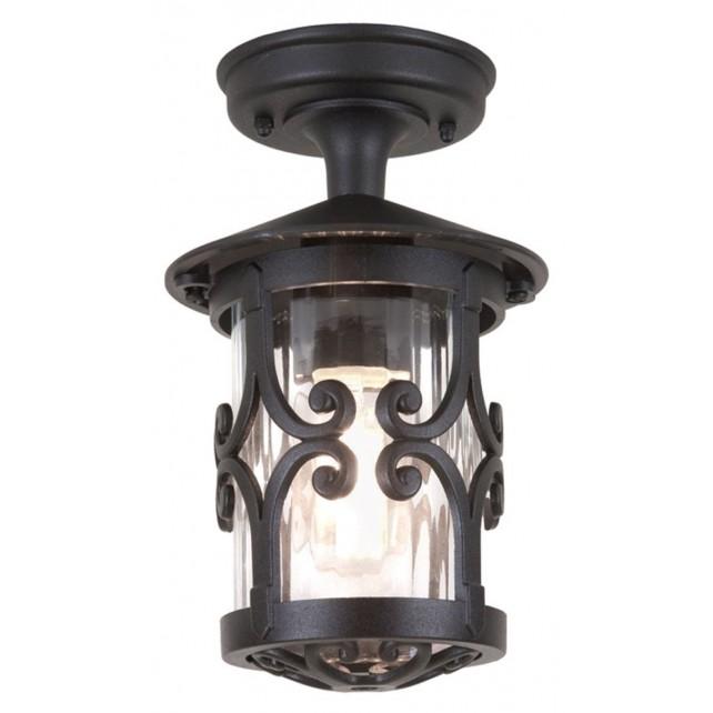 Elstead BL13A BLACK Hereford Ridgid tube Lantern