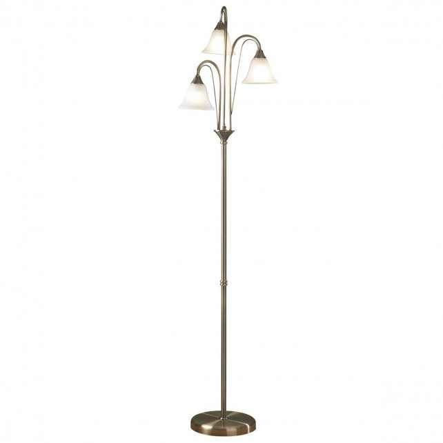 Boston Floor Lamp - Antique Brass