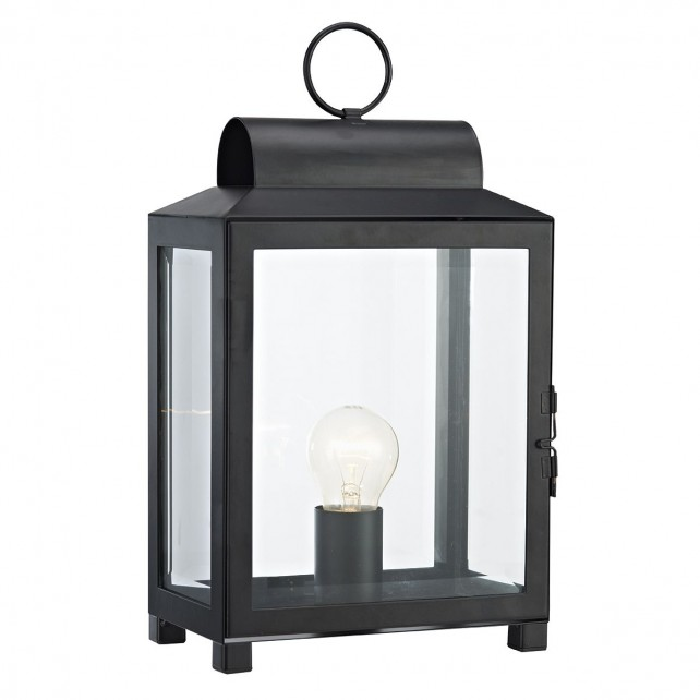 Box Table Lamp - Black, Glass