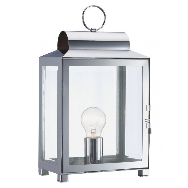 Box Rectangle Table Lamp Polished Chrome