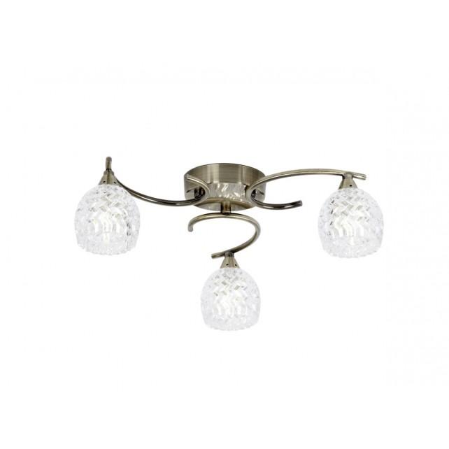 Boyer 3 Light Ceiling Light - Antique Brass
