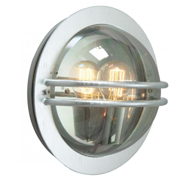 Norlys BREMEN E27 GAL S Bremen Wall Light E27 Galvanised Smoked